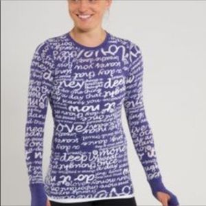 Lululemon Purple Mantra Long Sleeve Top